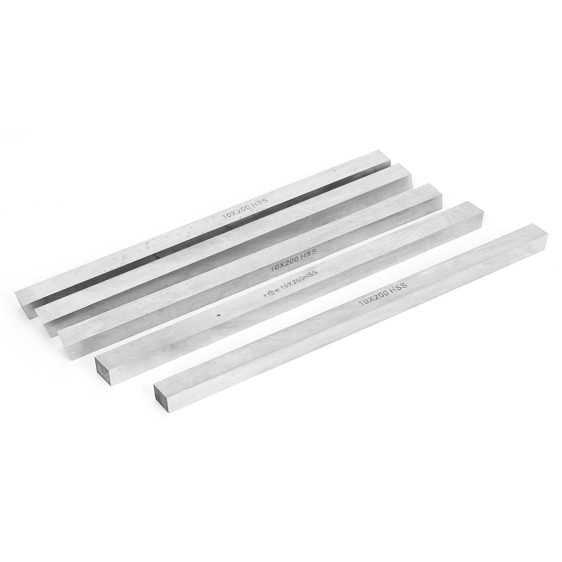 5pcs 10mmx10mmx200mm HSS Cutter Tool Bit CNC Lathe Milling Turning Boring Bar