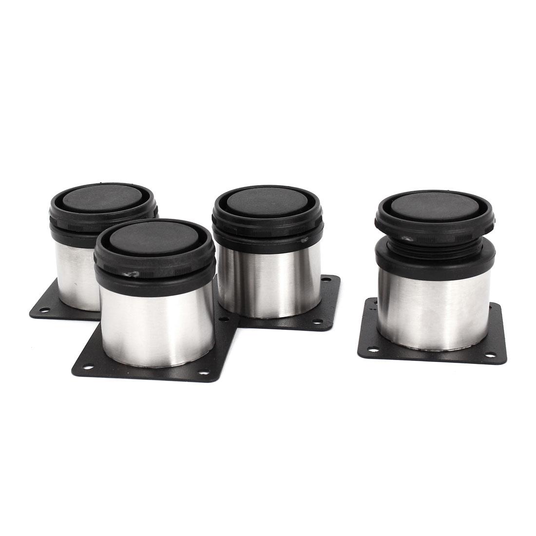 4pcs 50mm x 50mm Adjustable Plinth Leg Feet for Kitchen Cabinet Furniture Sofa