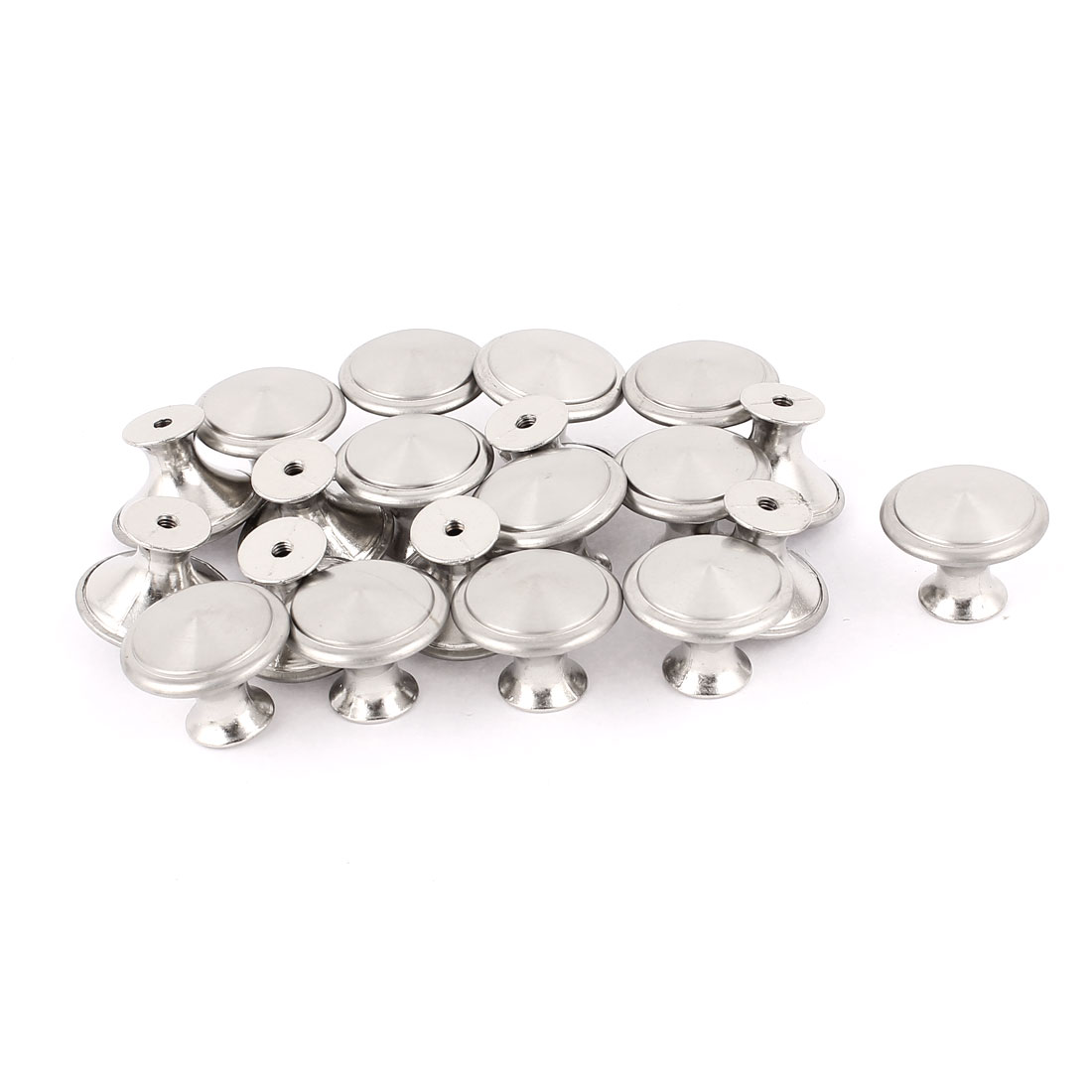 28mm Dia Metal Cabinet Cupboard Wardrobe Door Drawer Pull Knob Handle 20pcs