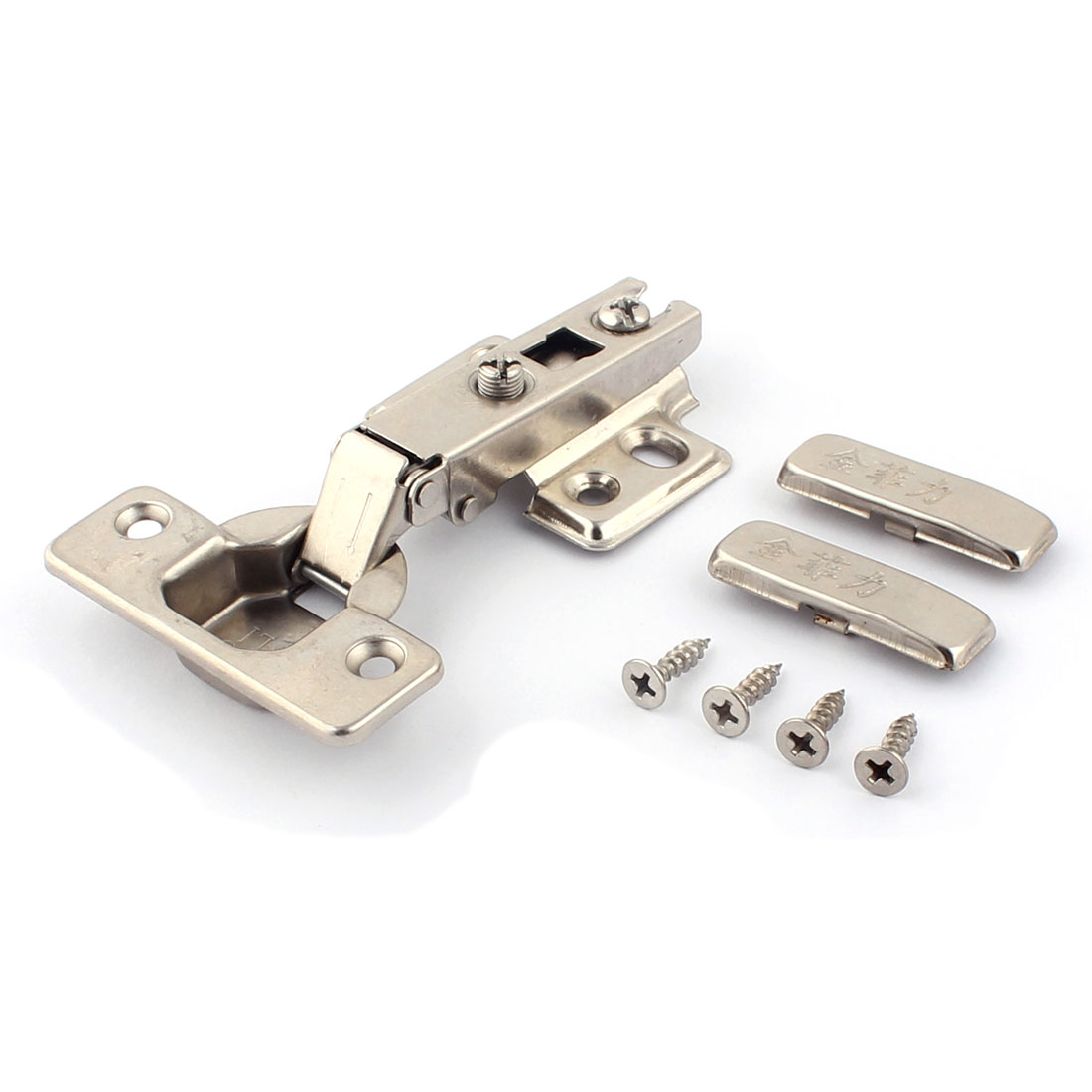 Kitchen Cabinet Cupboard Self Close Full Overlay Hinge Concealed Hardware 4 Pcs