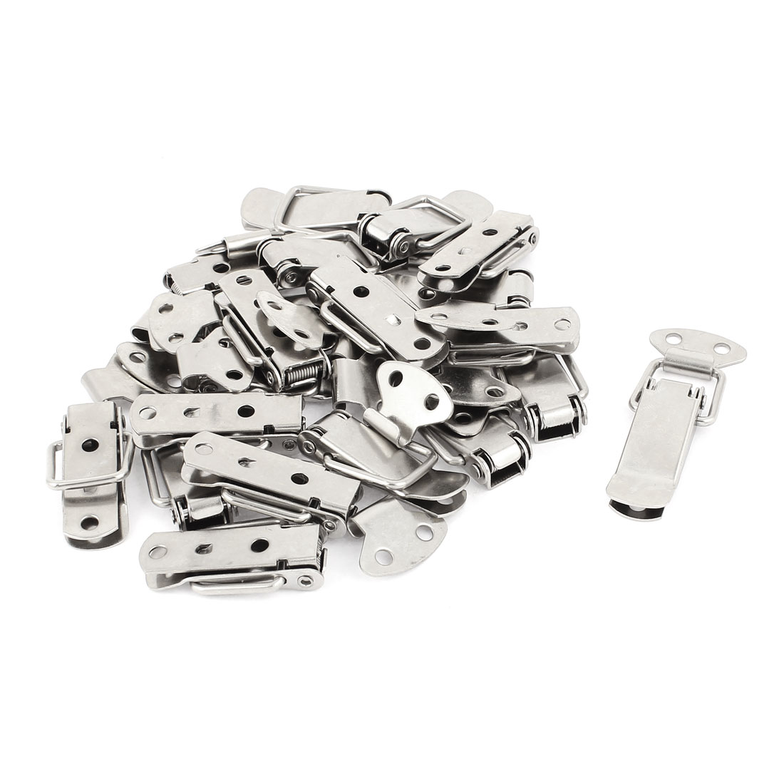 20pcs 56mm Long Spring Loaded Toggle Draw Latch Catch Set for Cases Boxes Chests