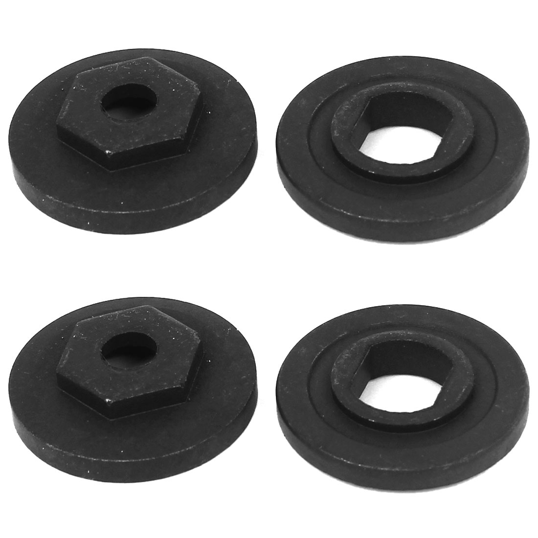 4 Pcs Replacement Marble Cutter Part Inner Outer Flange Black for Hitachi 110