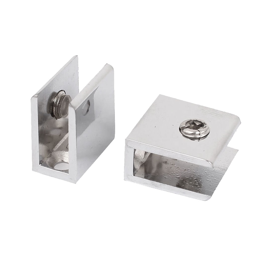 2Pcs Adjustable Screw Rectangle Clip Clamp Support for 10mm Thickness Glass