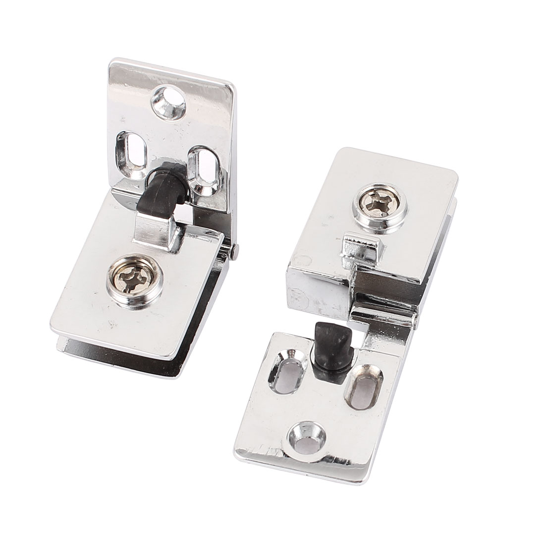 2pcs Screws Mount Glass Clip Clamp Silver Tone for 6mm Thickness Glass