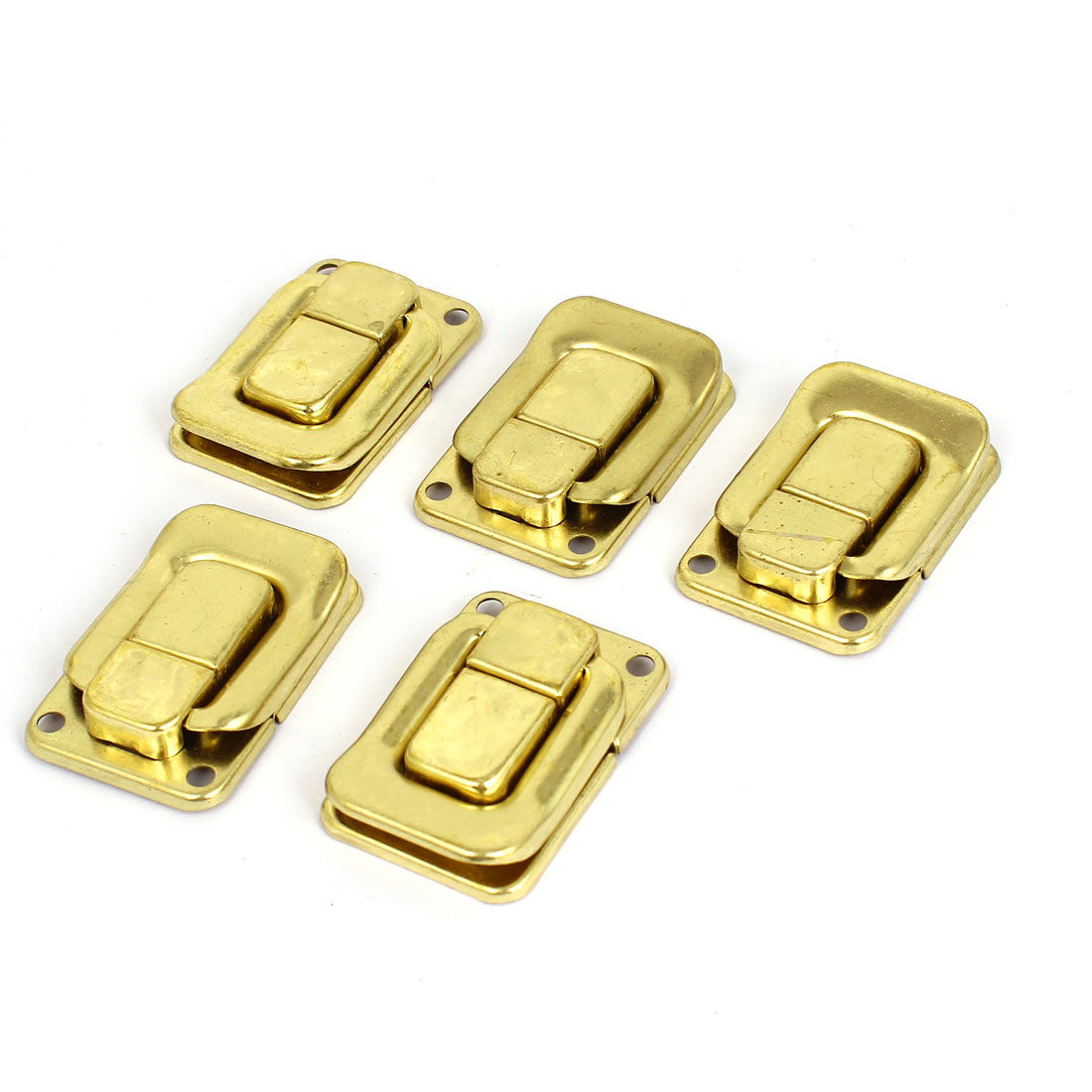5 Pcs Gold Tone Metal Toggle Latch Catch Chest Box Case Suitcase Clasps