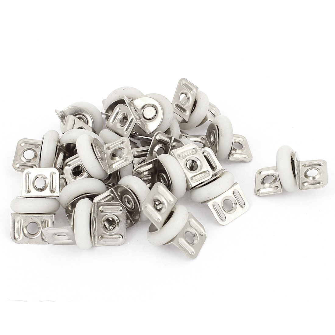 20pcs Door Window Cupboard Drawer Single Sliding Roller Pulley Wheel