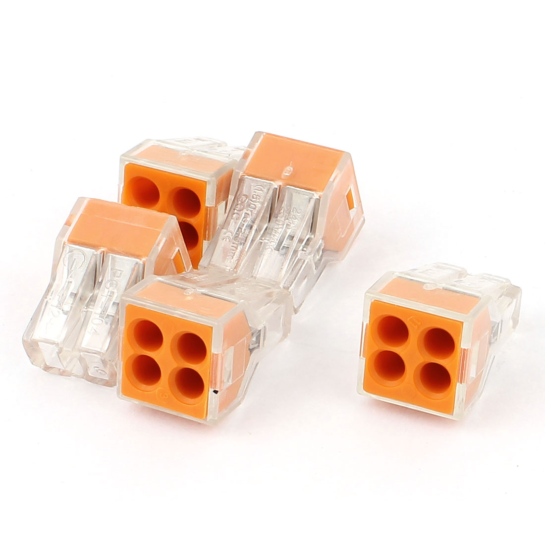 18-12AWG 4 Way Nylon Electric Wall-Nuts Push-Wire Connector Terminal Block