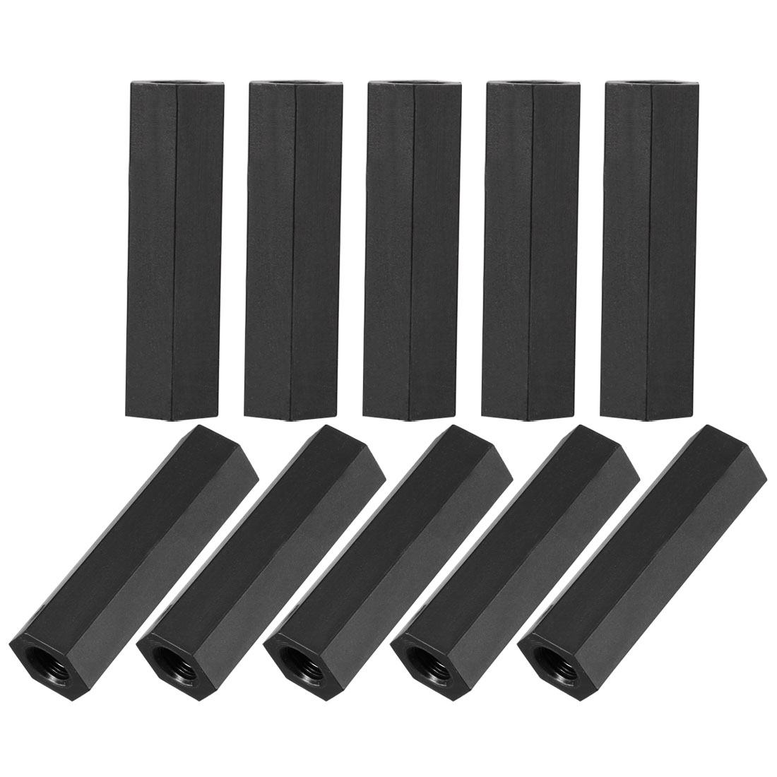 50Pcs M4x25mm Nylon Hex PCB Spacer Standoff Pillar Female Screw Nut Black