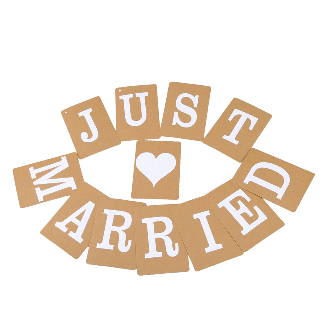 JUST MARRIED Wedding Banner Venue Party Letter Decoration Bunting Photo Props