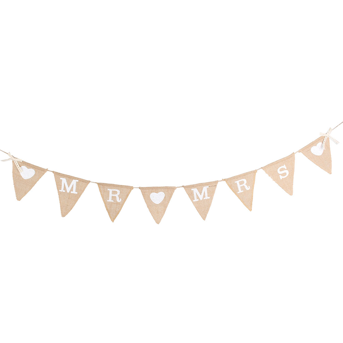 MR MRS Letter Party Wedding Engagement Card Banner Bunting Decor Khaki