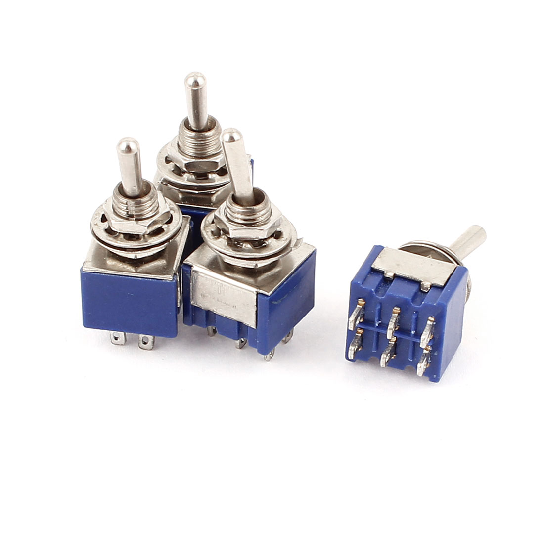 4 Pcs AC 6A 125V 2 Position 6Pins DPDT ON-ON Micro Mini Toggle Switch