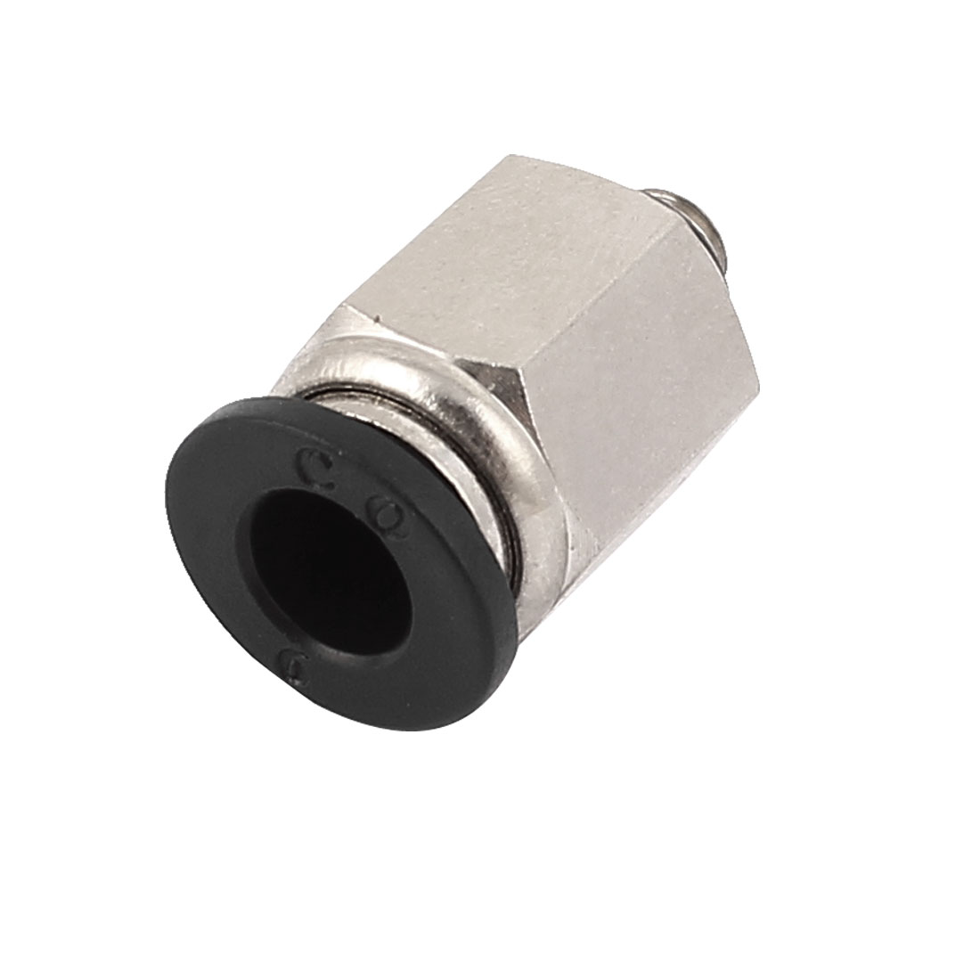 M5 Thread to 6mm Hole Tube Air Pneumatic Quick Connector Joint Fitting
