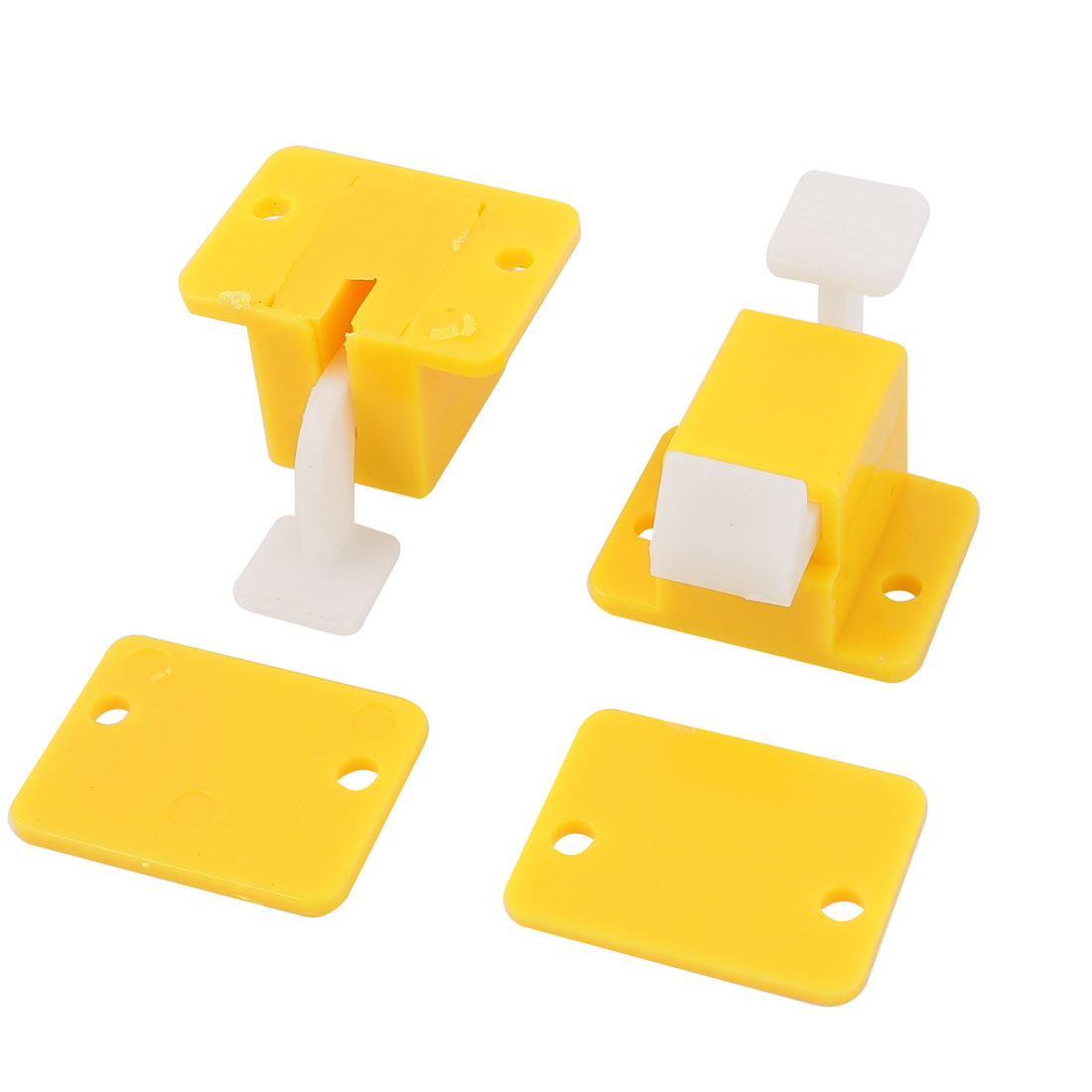 2 Pcs Plastic Prototype Test Fixture Latch Yellow White for PCB Board