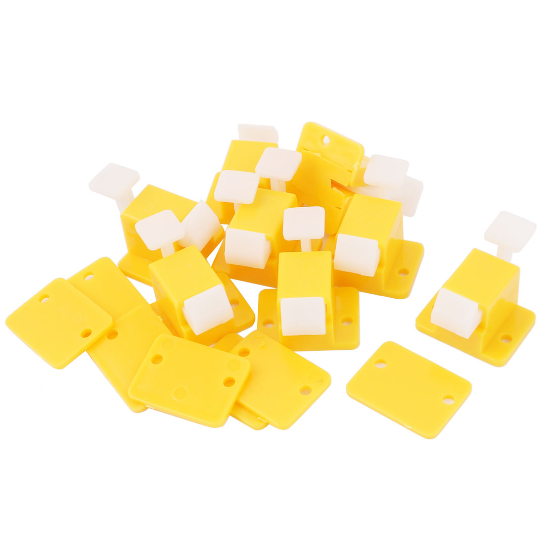 8 Pcs Plastic Prototype PCB Board Test Fixture Jig Latch Yellow White