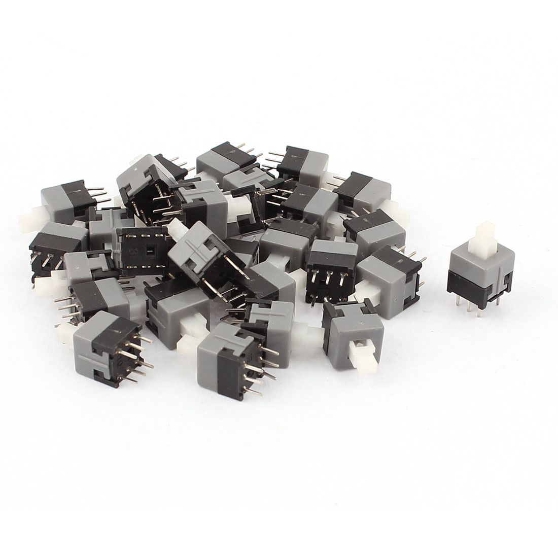 30 Pcs 6 Pin DPDT Latching Tact Tactile Micro Mini Push Button Switch