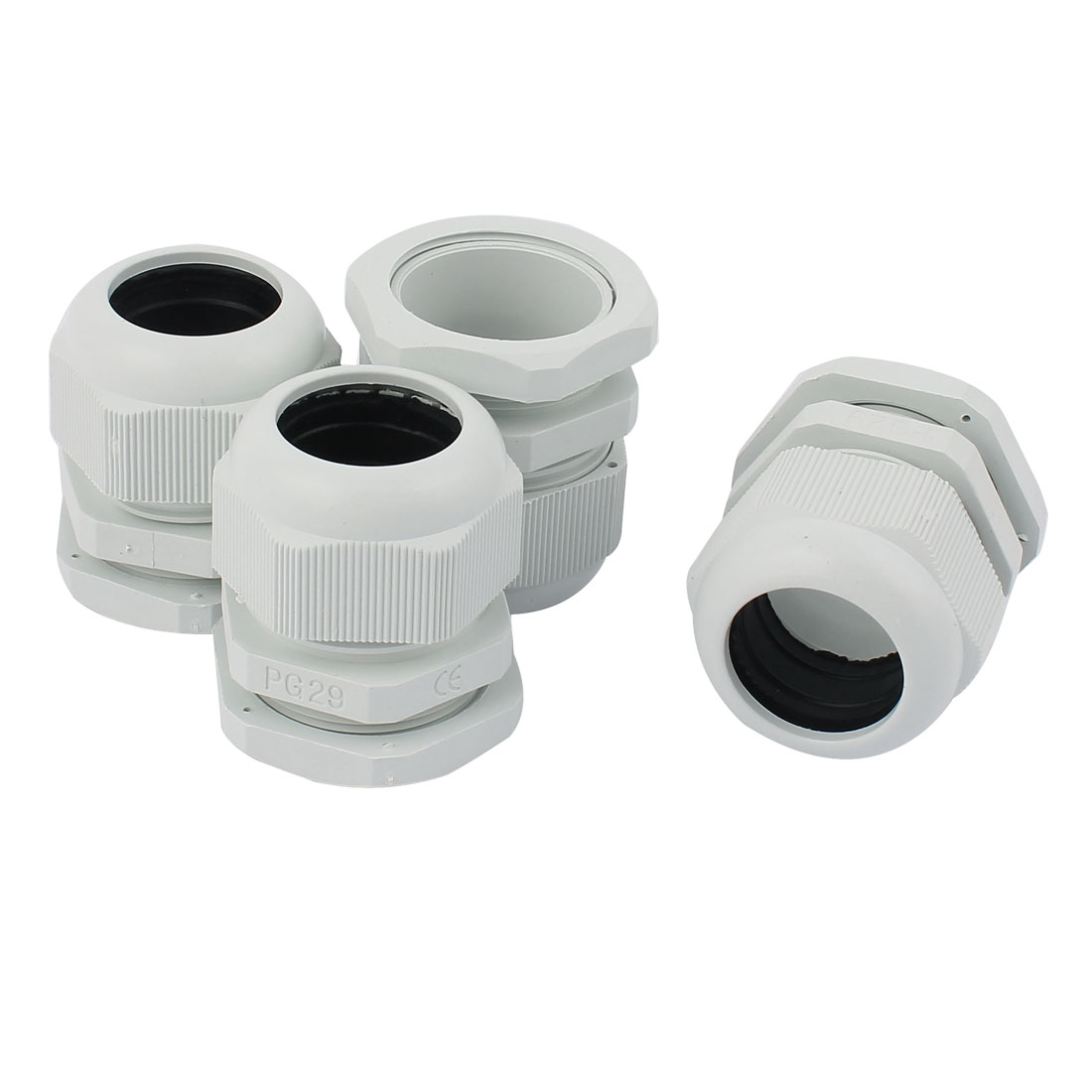 4 Pcs Plastic PG29 18-25mm Dia Wire Cord Grip Pipe Connector Waterproof Cable Gland