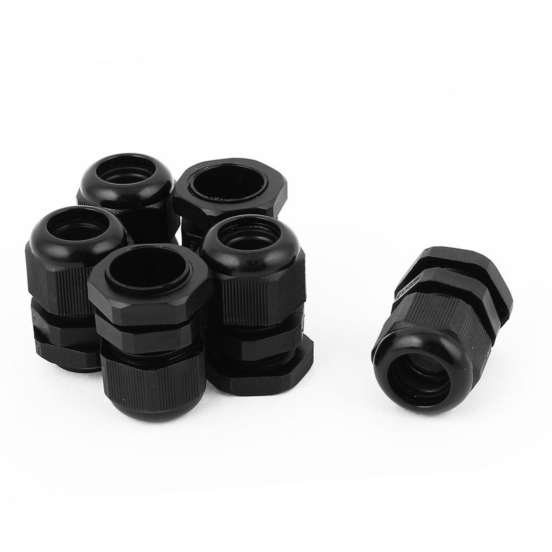 6 Pcs M22 10-14mm Waterproof Compression Cable Glands Locknut M22x1.5