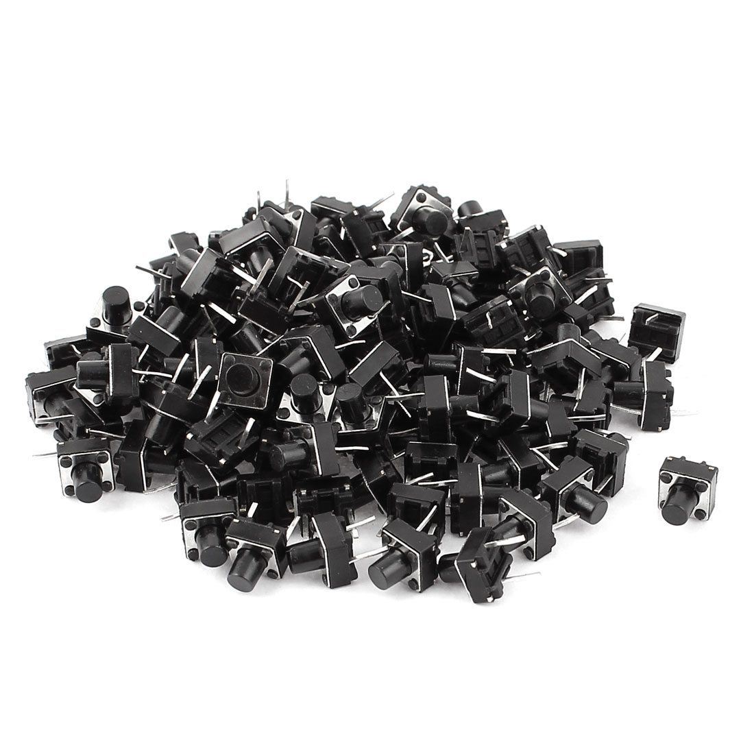 120 Pcs 6x6x7mm DIP Through-Hole Momentary Push Button Tact Tactile Switch