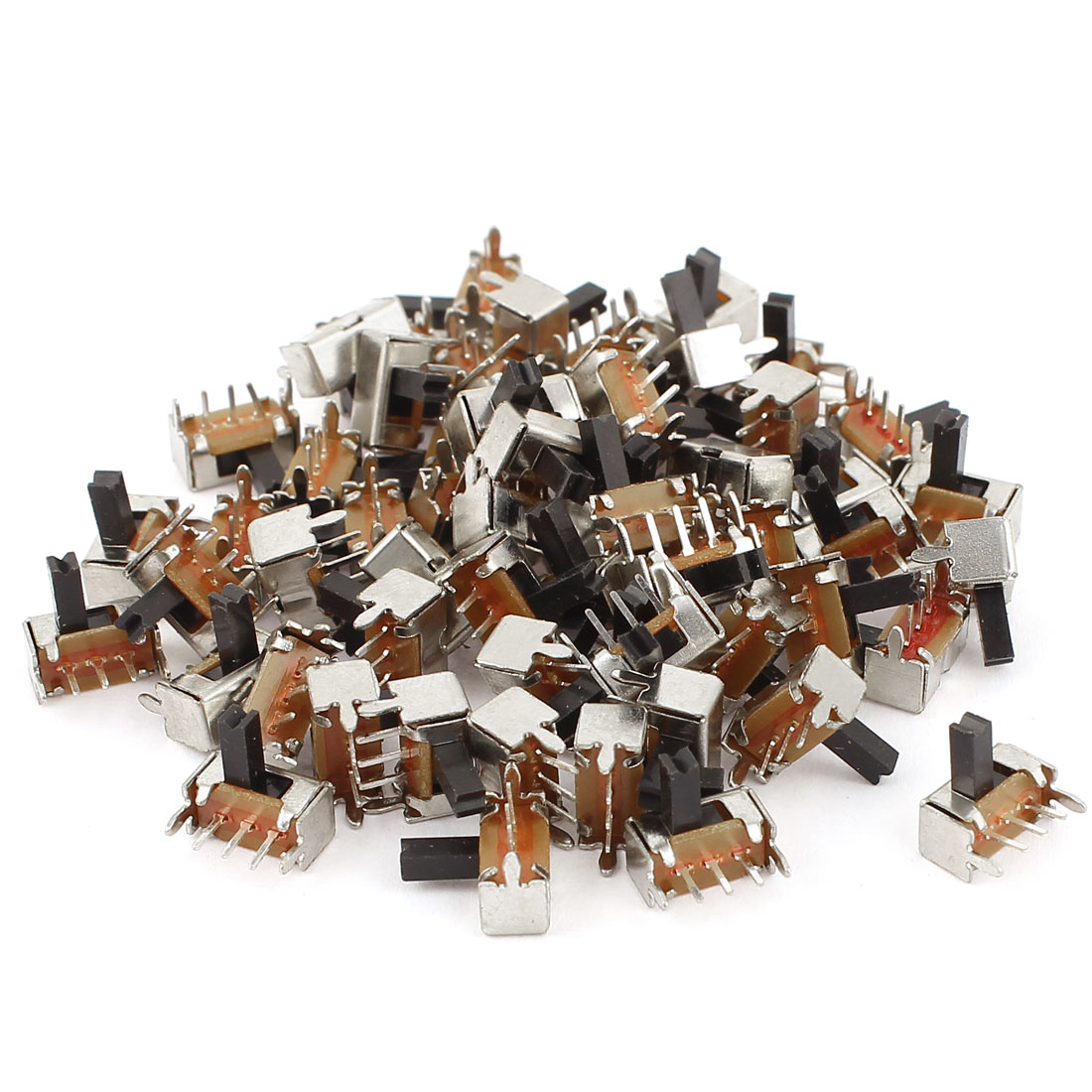 60 Pcs 2 Position 3Pins SPDT Right Angle Panel Mount Slide Switch DC 50V 0.8A