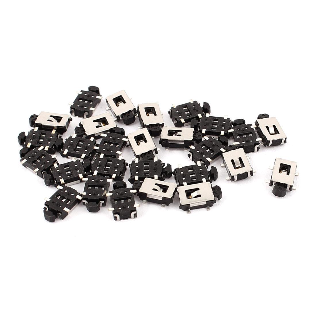 30 Pcs SMD PCB 4pins Momentary Pushbutton Micro Mini Tact Push Switch