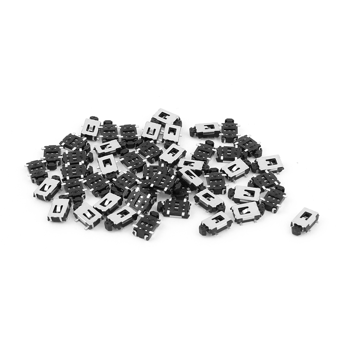 50 Pcs SMD PCB 4-Terminals Momentary Pushbutton Micro Tactile Tact Push Switch
