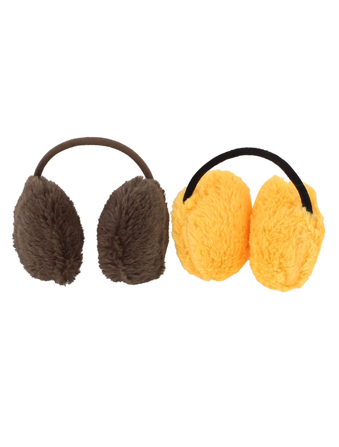 2 Pcs Winter Headware Plush Headset Shaped Soft Back Ear Warmers Earmuffs