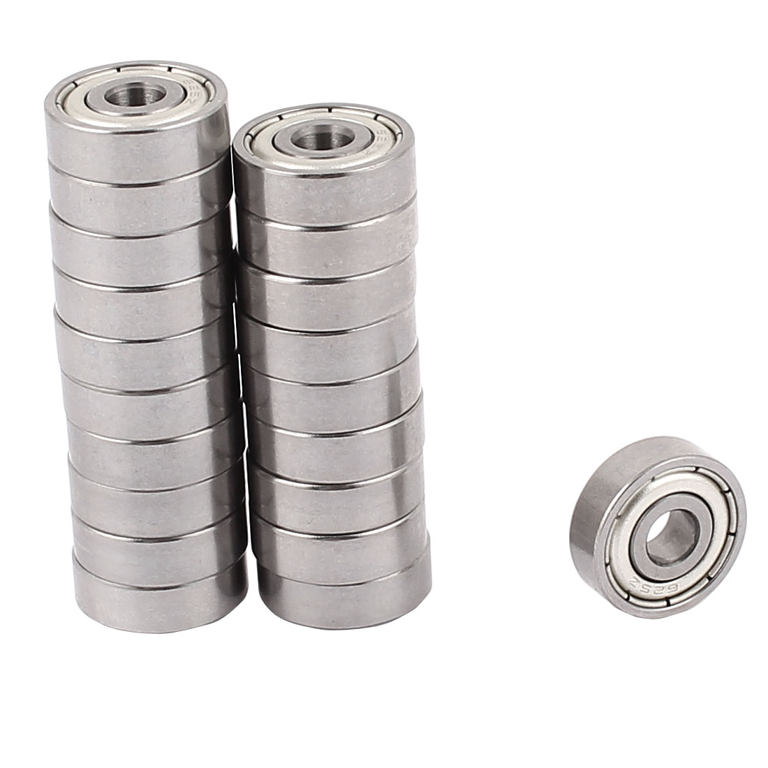 20 Pcs 5mmx16mmx5.5mm Metal Sealed Shielded Deep Groove Ball Bearing for Skateboard