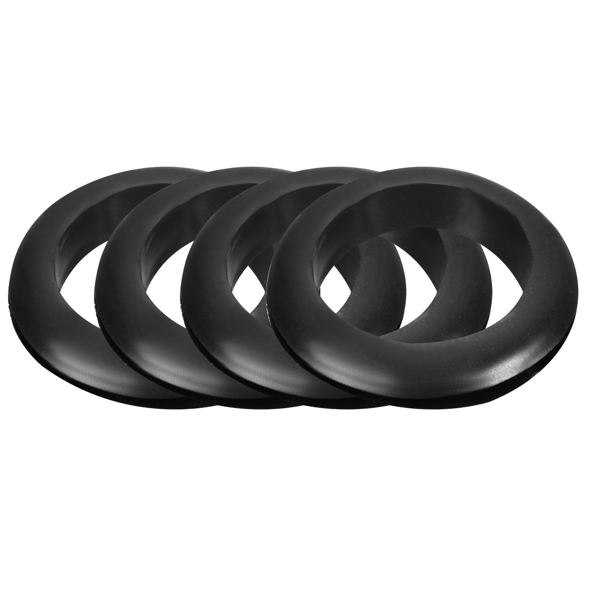 4 Pcs Black 50mm External Diameter Rubber O-Ring Oil Seal Sealing Ring