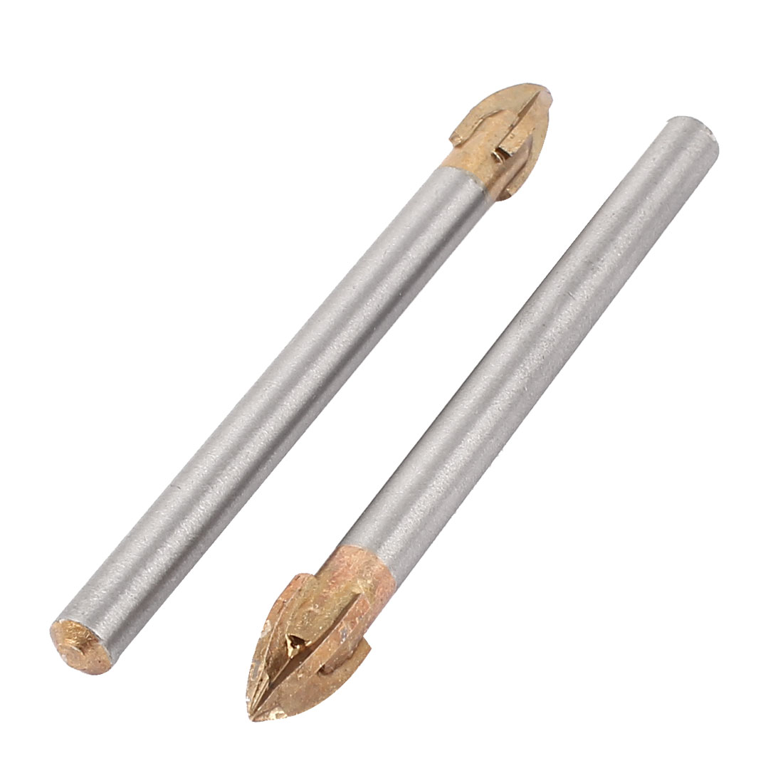 2 Pcs Alloy 8mm Cutting Dia 4 Flute Point Miorror Glass Tile Drill Bit