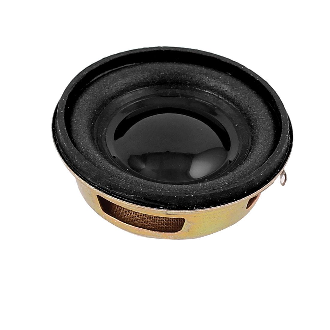 3W 4 Ohm 40mm Dia Magnetic Type Metal Magnet Mini Audio Speaker