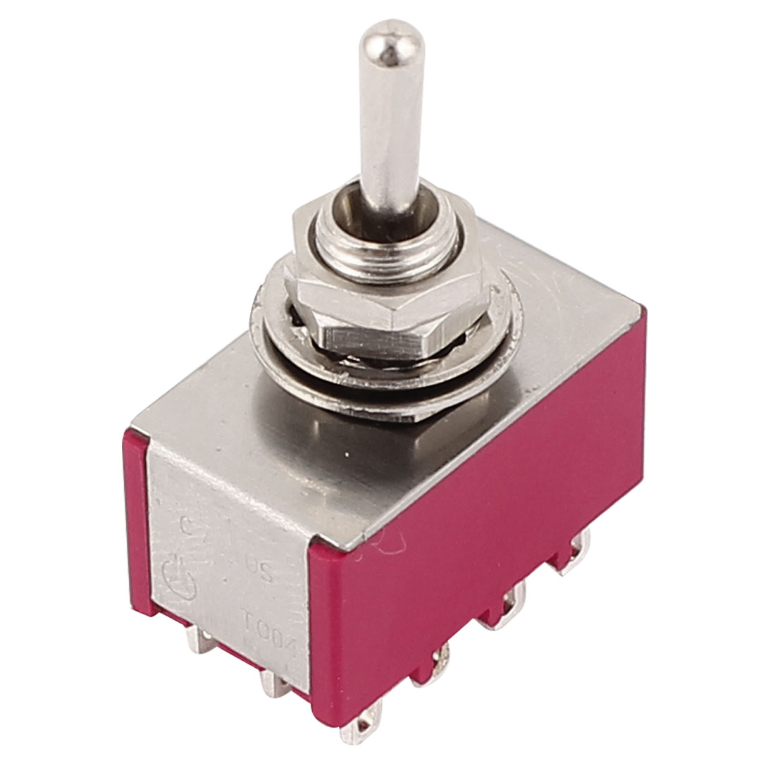 AC 250V/120V 2A/5A 4PDT ON/OFF/ON 3 Positions 12 Pin Electric Toggle Switch Red