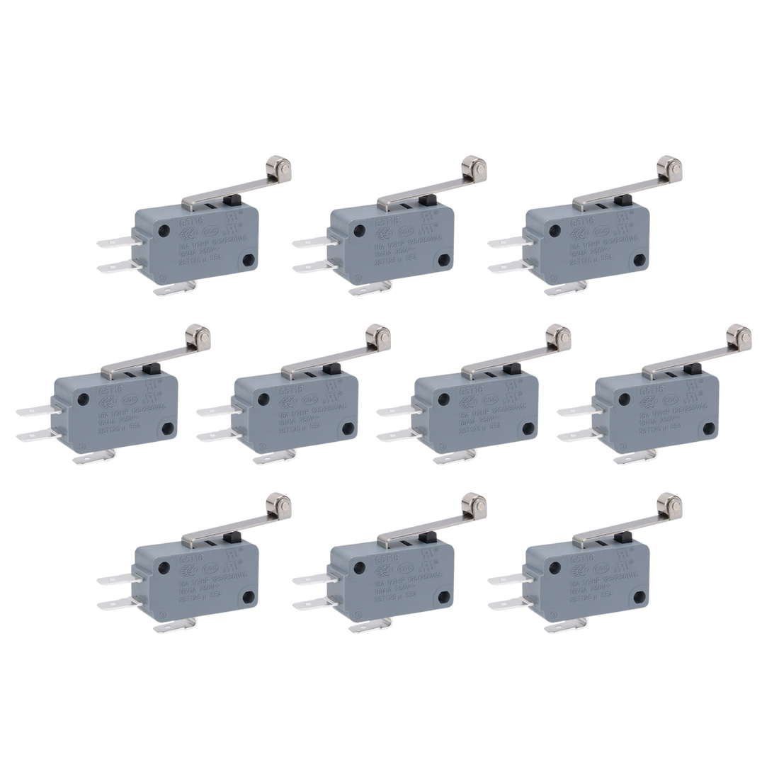 10 Pcs G5T16-E1Z200A06 Roller Lever Arm SPDT NO/NC Momentary Micro Switches