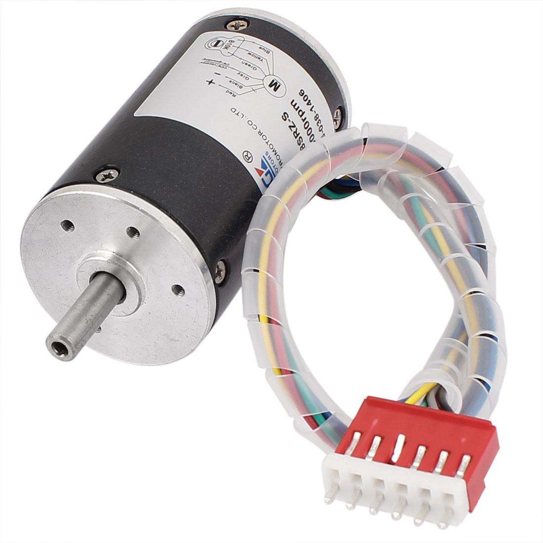 DC 24V 5000RPM 38mm Diameter Speed Control Brushless Motor