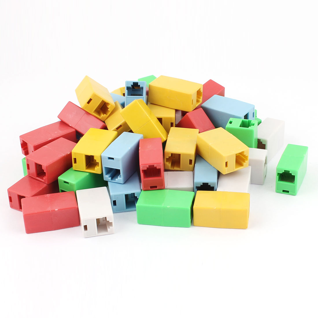 50pcs RJ45 Adapter Coupler Ethernet Network Cable 8P8C Female/Female Join Jack
