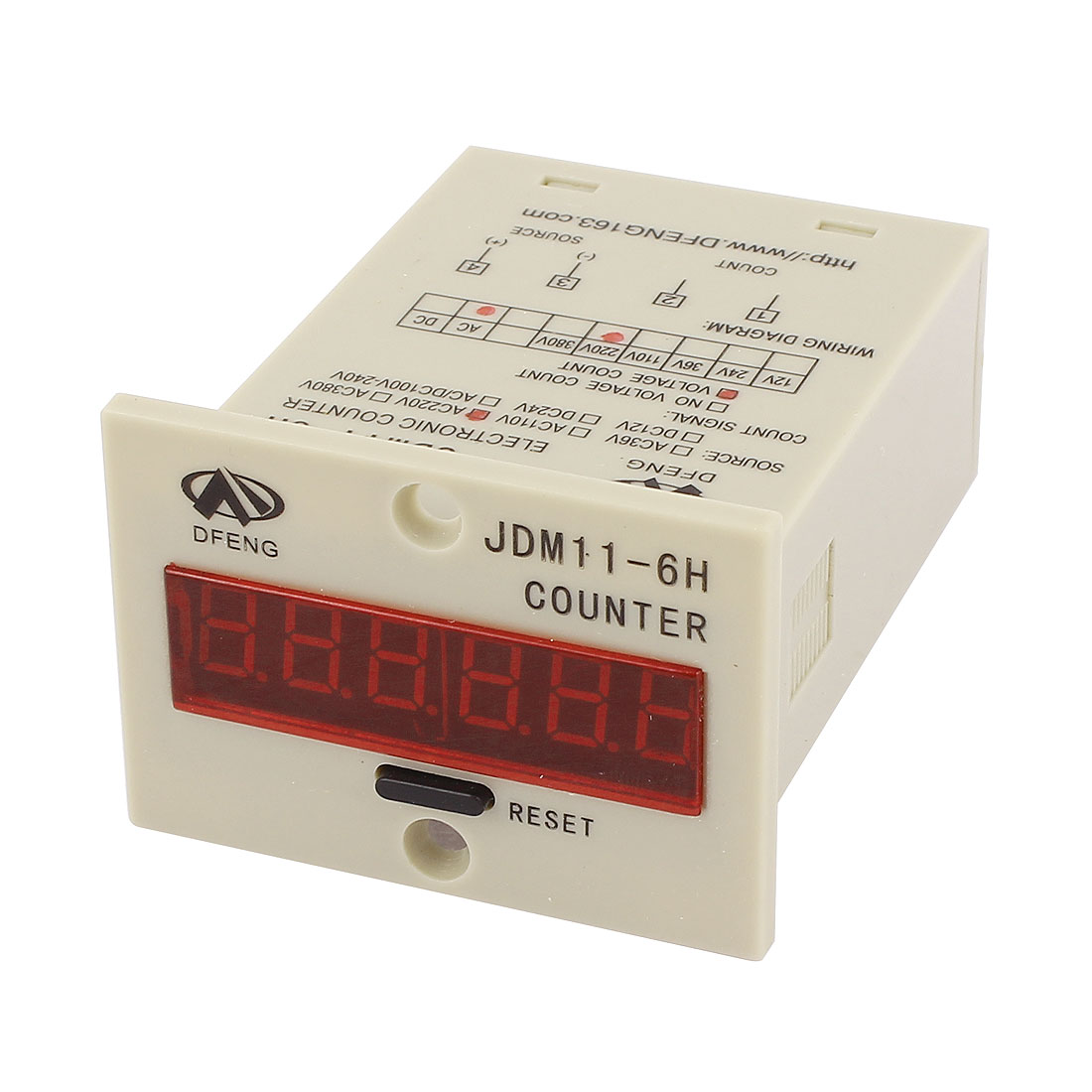 A100 JDM11-6H AC 220V 6 Red LED Digits Display Electronic Counter