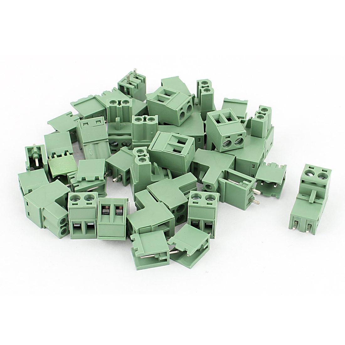 20 Sets AWG 12-24 300V 10A 5.08mm Pitch PCB Screw Terminal Block Connector Army Green