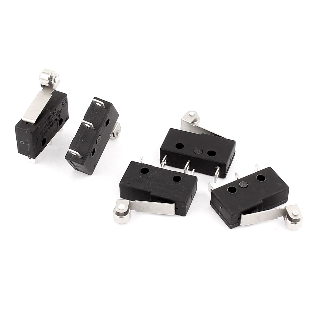 5Pcs KW11-3Z 5A AC 250V 3 Terminals Roller Lever Arm Micro Switches