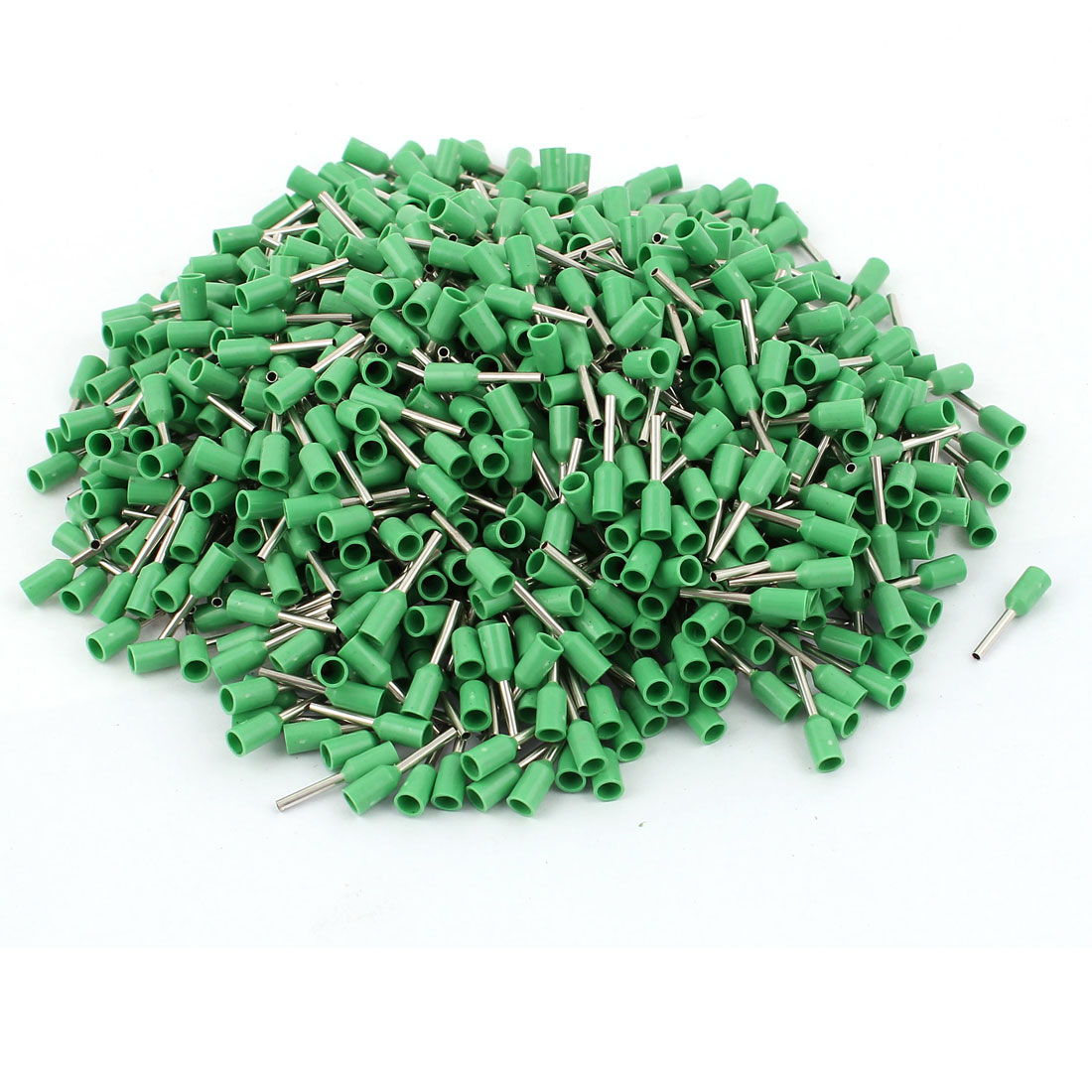 Green E0508 22 AWG Insulated Pin Crimp End Terminal Wire Ferrules 1000 Pcs