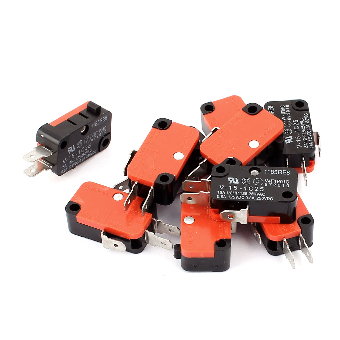 10 Pcs Momentary Subminiature SPDT NO NC Limit Switch AC/DC 125V 250V