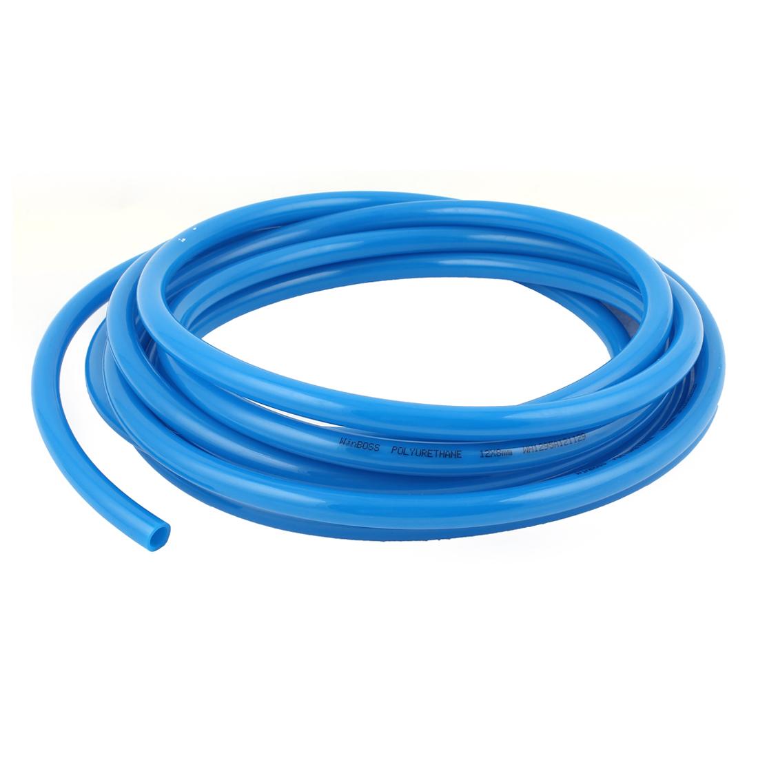 12mm OD x 8mm ID Polyurethane PU Pneumatic Air Tubing Pipe Hose 6M 20ft Blue