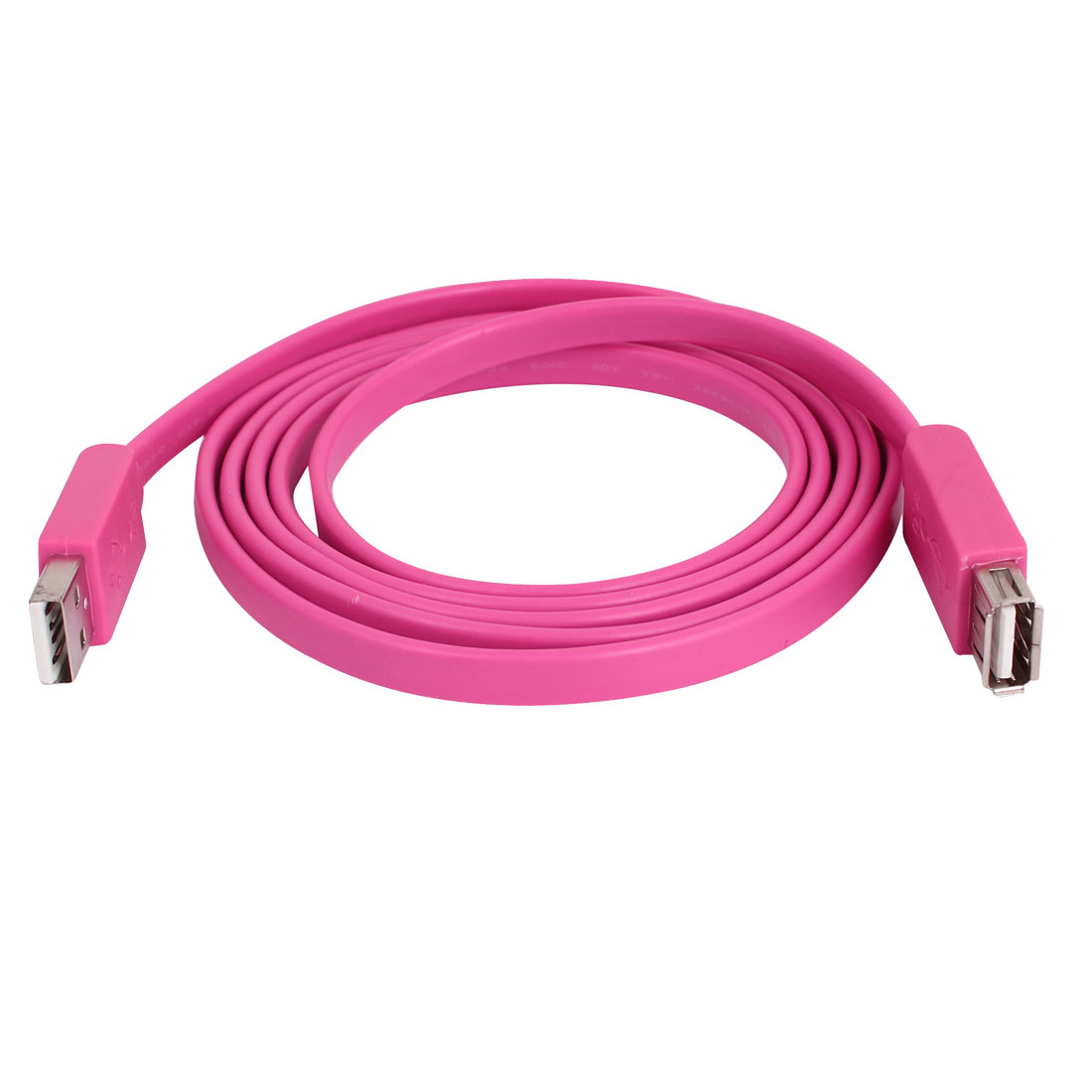 USB 2.0 Type A Female to Male Adapter Extension Cable Cord Pink 1.5M 5ft Long