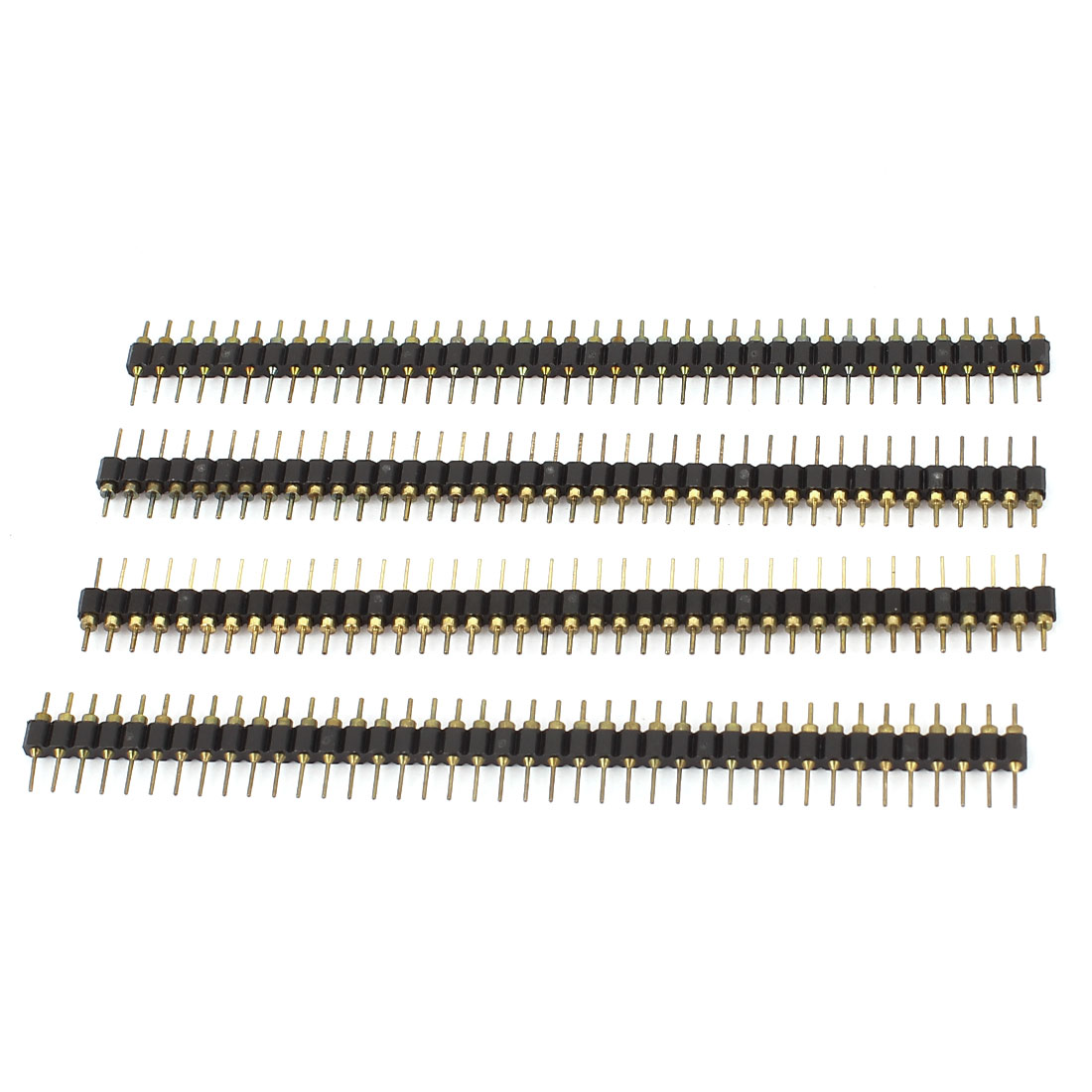 4Pcs 40Pin 2.54mm Pitch Single Row Straight Male Pin Header
