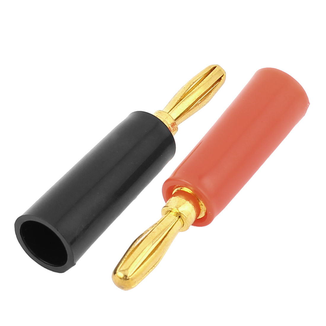 2 Pcs Gold Plate Connector 47mm Length Black And Red Banana Adapter