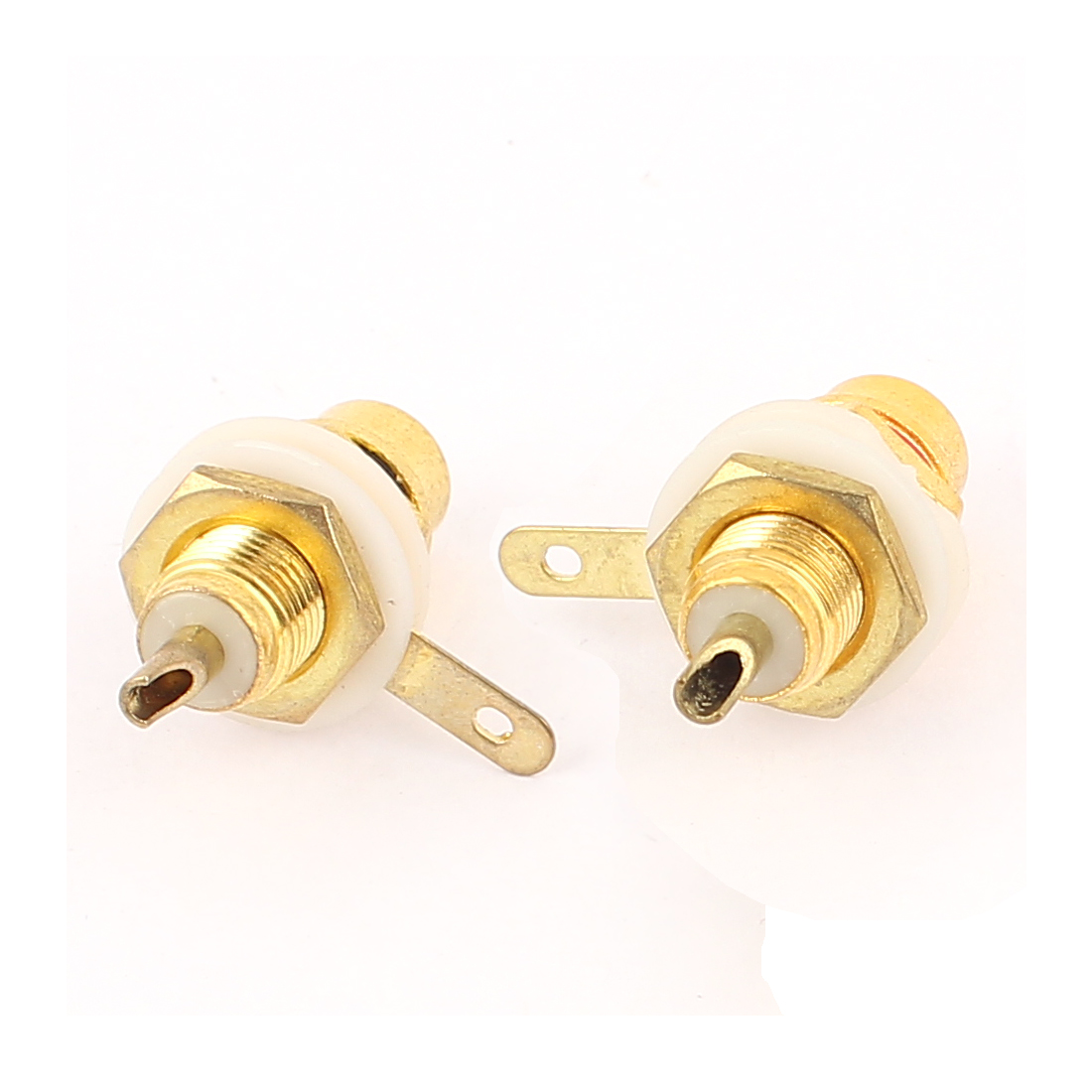 2 Pcs Good Amplifier Female Classis Panel PCB Jack Audio Terminal RCA Connector