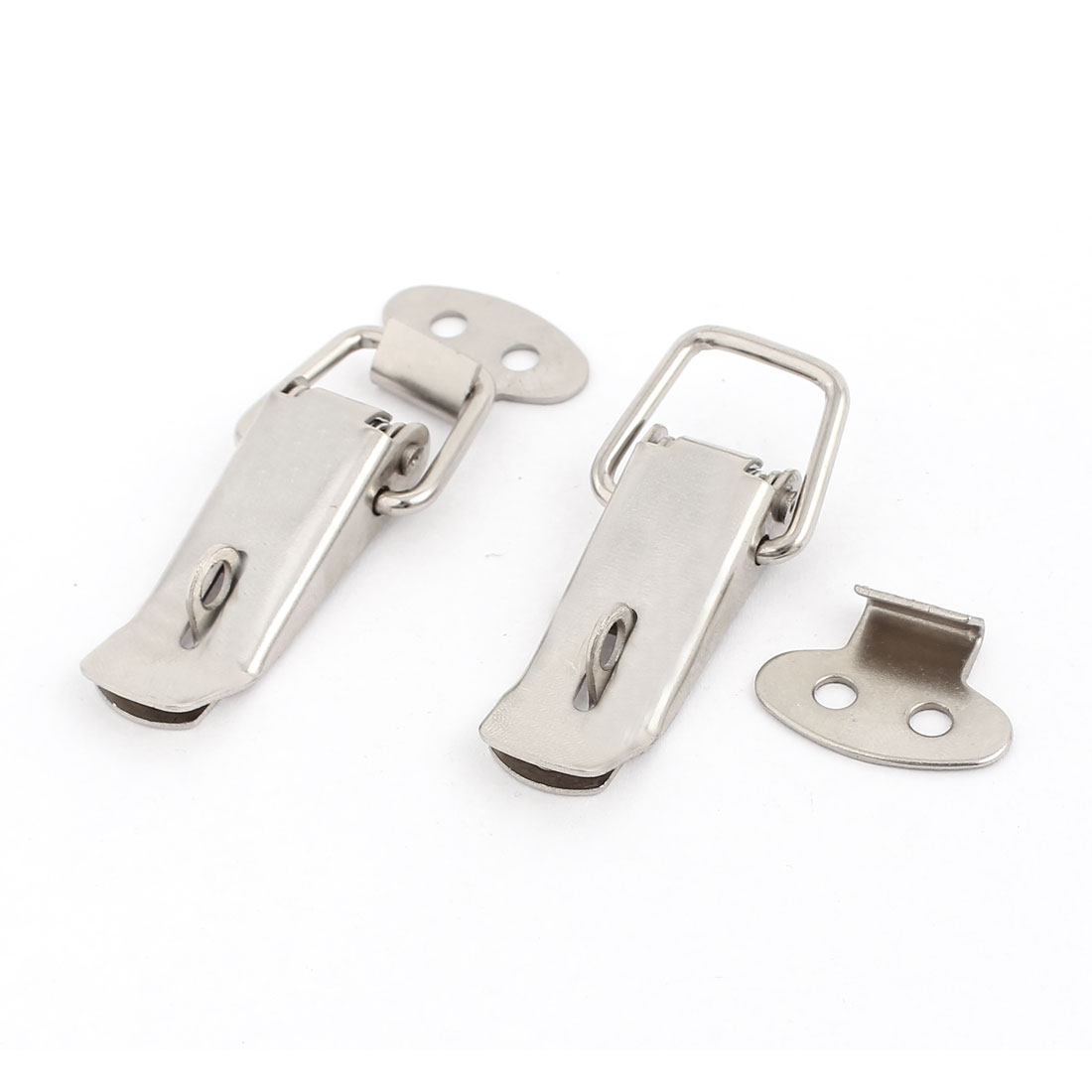 Suitcase Bags Cases Stainless Steel Spring Draw Toggle Latch Catch 2Pcs