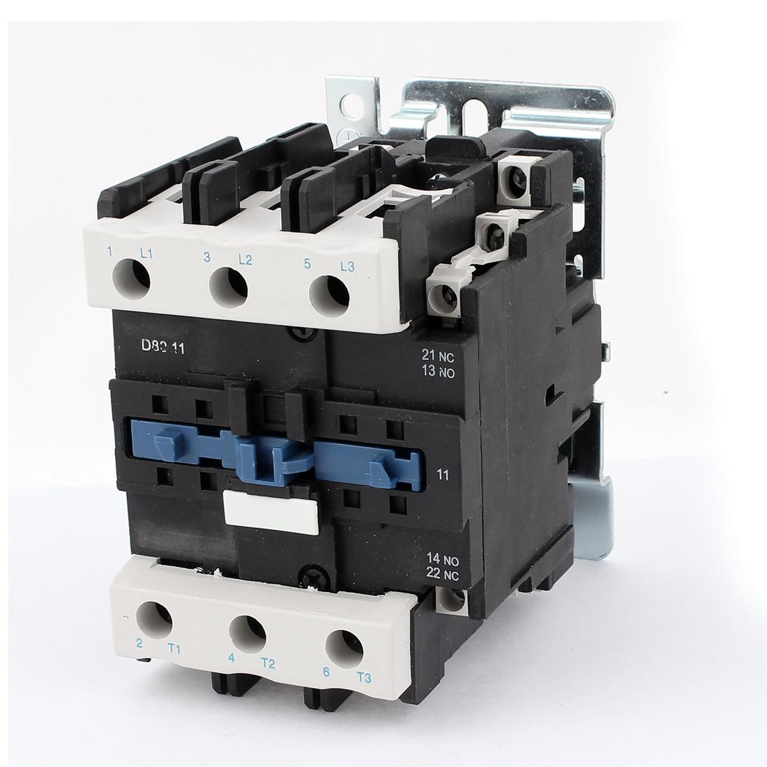 LC1-D8011 AC 220V 50/60 Hz Coil 80A AC Contactor 1NO + 1NC