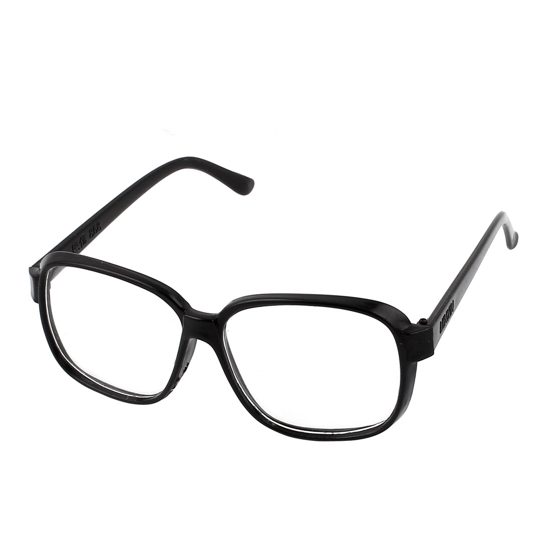 Outdoor Full Frame Clear Lens Eyes Protector Plain Glasses Eyeglass Black