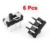 6 Pcs 2 Position DPDT 2P2T 6 Pin PCB Panel Mini Vertical Slide Switch