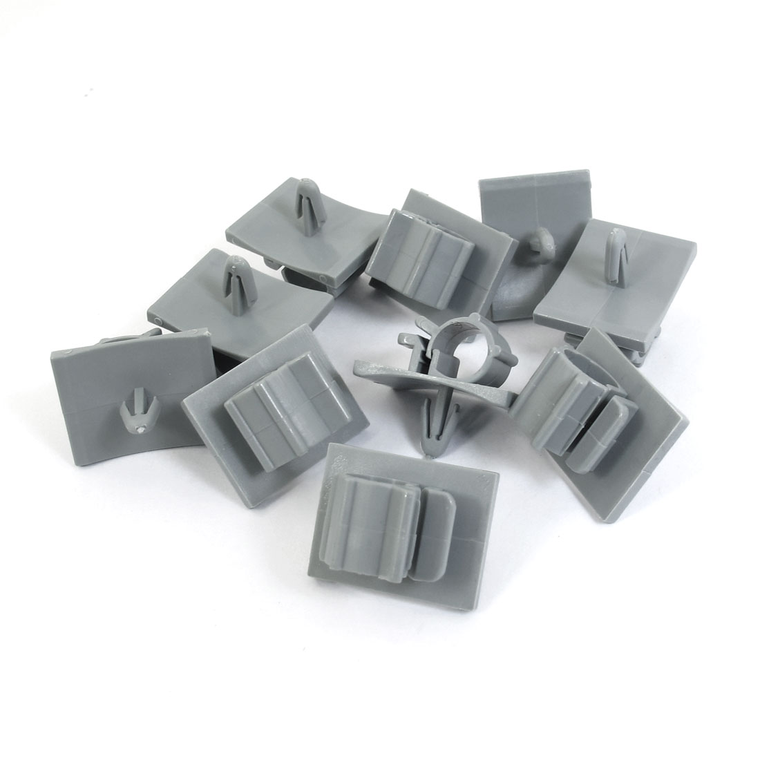 CPS-0708 Gray Cord Managemen Standoff Cable Holder Clamp Clips Organizer 10 Pcs