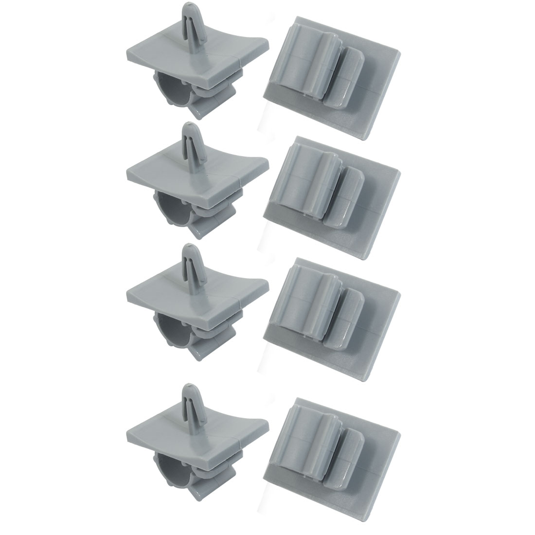 10mm Hole Dia Cord Managemen Standoff Cable Holder Clamp Clips Organizer 8 Pcs
